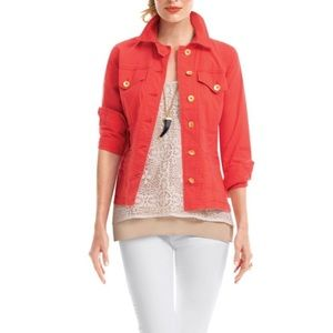 Cabo • Coral Lightweight Ruffle Jacket